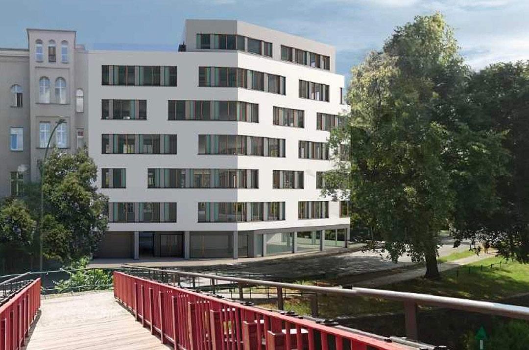 Hochbau in Berlin - Baustelle mit Kran