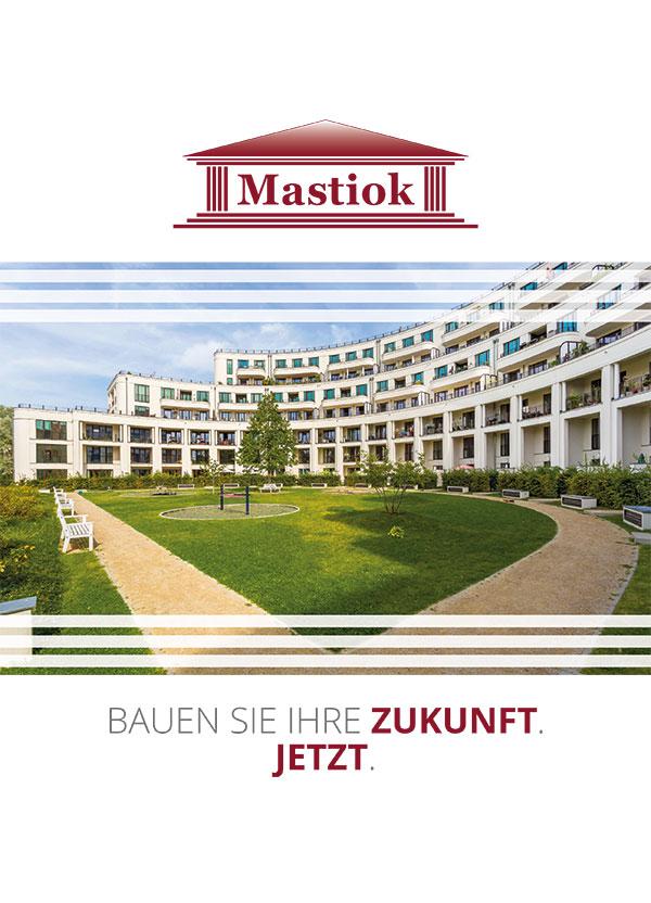 Titelblatt - Broschüre Mastiok Bau - Leistungsspektrum